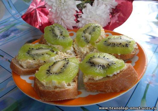 Бутерброды с киви и зеленью рецепты