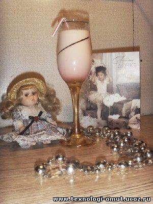 """""""4. 30г малинового.  Розовый коктейль."""